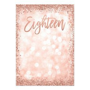 rose gold faux glitter lights 18th