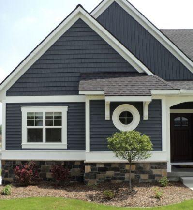 Slate Blue Vinyl Siding For Craftsman House Paint Exterior