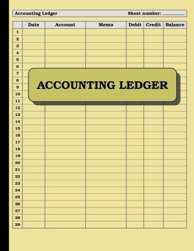 4-RING LEDGER BOOKKEEPING ACCOUNTING DEBIT CREDIT BALANCE 100 SHEETS 8.5 x 5