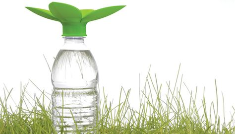 Sooo green.  Collect rainwater in bottles.