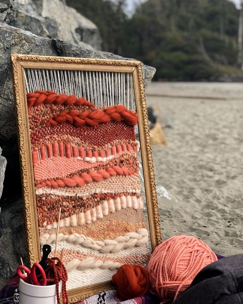 Hello again Friends! The journey has been a long one to get to this place. I am so excited to embrace winter in Canada… Weaving Loom Diy, Weaving Art, Tapestry Weaving, Weaving Patterns, Macrame Wall Hanging Patterns, Weaving Wall Hanging, Tapestry Fabric, Fabric Art, Circular Weaving