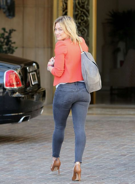 Hilary Duff impressive booty in tight jeans and high heels out in Beverly Hills