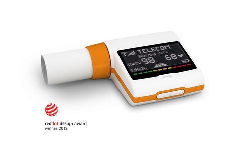 Reddot Award Winner Spirometer Spirotel By Mir And Creanova Is A Pocket Size Homecare Device For Complete Respirator Body Posture Medical Design Accelerometers