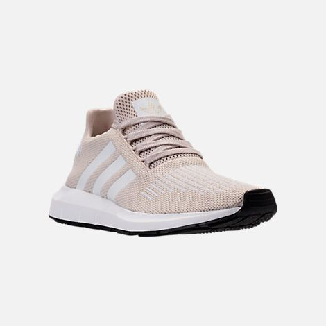 Three Quarter View Of Women S Adidas Swift Run Casual Shoes In Clear Brown White Adidas Women Trendy Sneakers Beautiful Sneakers