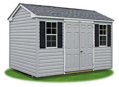 8x12 Vinyl Sided Side Entry Peak Storage Shed Available At Pine Creek Structures Shed Structures Vinyl Siding