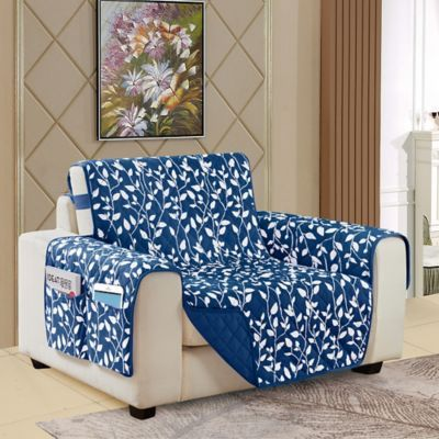 Leaf Reversible Chair Cover Bed Bath Beyond Living Room Chair Covers Sofa Covers Comfortable Living Room Chairs