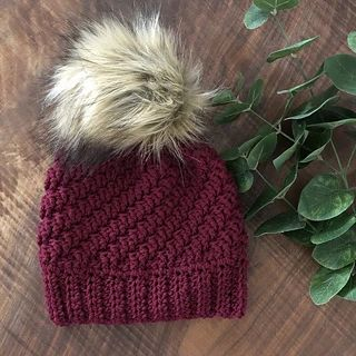81e7b159750 The Diagonal Raised Beanie is chunky and cozy beanie. It is available in  ADULT size