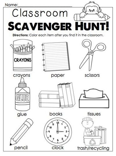 Classroom Worksheets First Day Of School Activities, School Activities,  Kindergarten First Day
