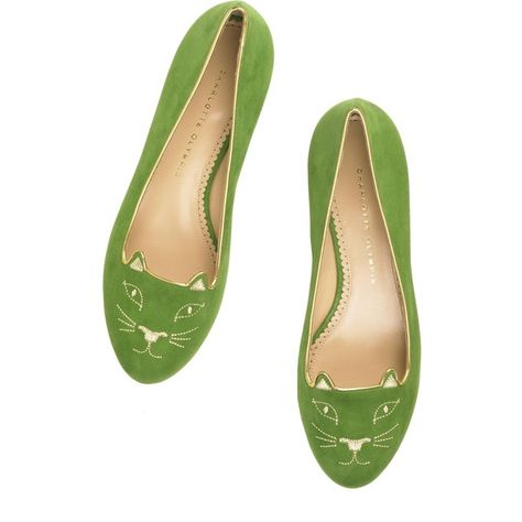 Charlotte Olympia - Kitty Flats (43.395 RUB) ❤ liked on Polyvore featuring  shoes 9d4546d21fb2