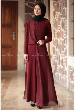 Rana Zen Zen Tulum Bordo Kiyafet Giyim The Dress