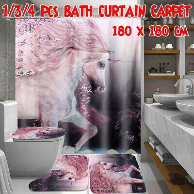 Advertisement 1 3 4pcs Unicorn Heavenly Horse Bathroom Shower