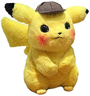 Amazon Com Vabao Detective Pikachu Plush Stuffed Animal Toy 11 Come With Brush Toys Games Pikachu Plush Pet Toys Plush Stuffed Animals