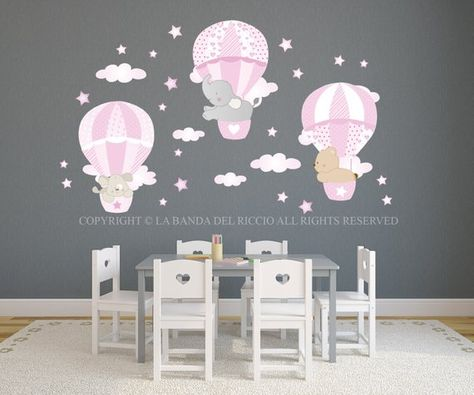 Adesivi Murali Cameretta Bimba.Le Mongolfiere 3 Adesivi Murali Bambini Stickers Murali Bambini