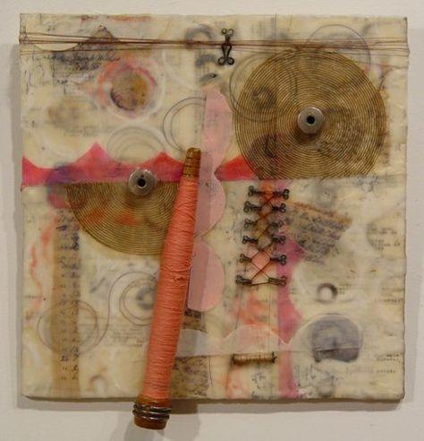 "Bobbins  12x13"" Clare Murray Adams - Bobbin and spindle series"