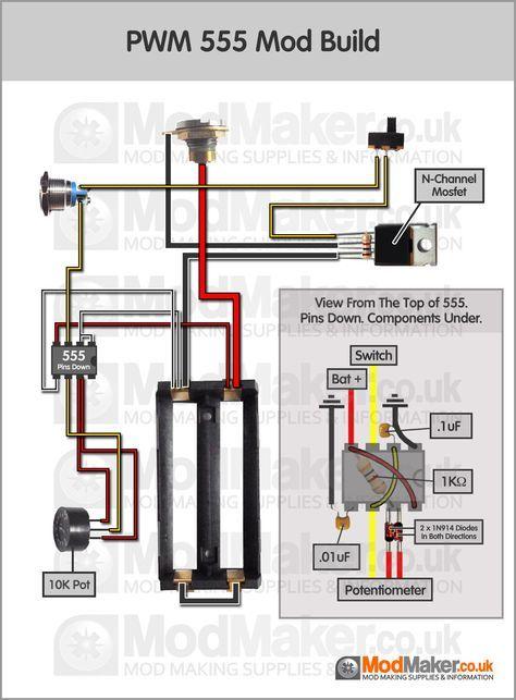 pwm 555 wiring diagram  rokok elektronik modulator listrik