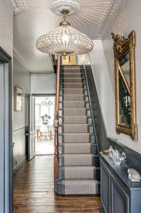 Hallway colour schemes Hallway colors, Bathroom designs and Town house - entree de maison avec escalier