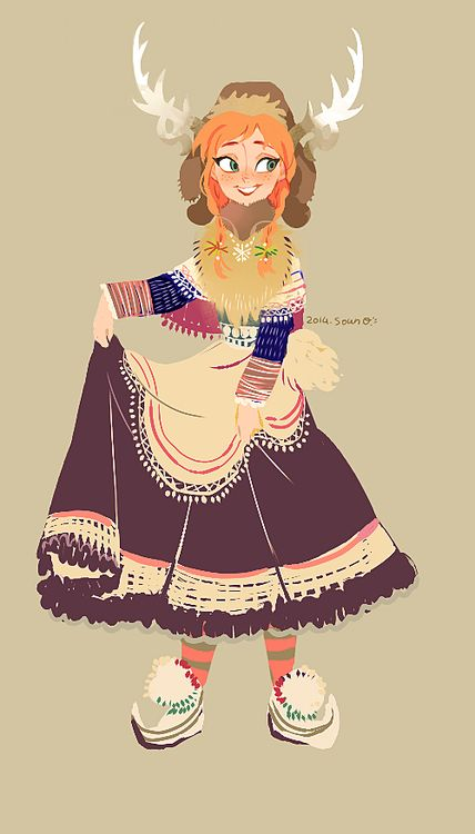 """Anna """"you think I look see-xy in this kristoff?"""""""