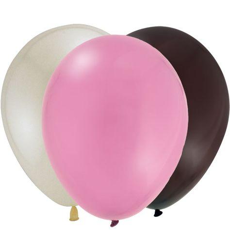 Pink Camo Baby Shower Coordinating Latex Balloon Set (24)