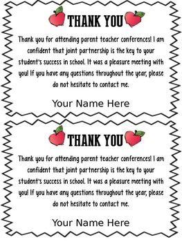 FREEBIE EDITABLE PARENT TEACHER CONFERENCE FORMS U0026 THANK YOU    TeachersPayTeachers.com | Parent Letters . .. | Pinterest | Parent Teacher  Conference Forms, ...