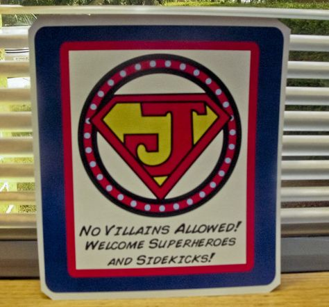 Superman party welcome sign or for the invite