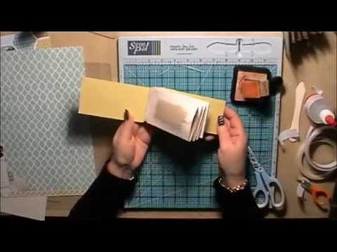 ▶ Toilet Roll Mini Scrapbook Album Tutorial with a Hinge System - YouTube