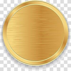 Gold Colored Coin Illustration Icon Golden Circle Transparent Background Png Cli Transparent Background Studio Background Images Photoshop Digital Background