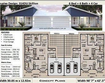 393 0 M2 Or 4230 Ft2 8 Bed Duplex Design Modern Duplex Plans Concept Duplex Plans For Sale Australian Duplex Duplex Design Duplex Design Duplex Floor Plans Duplex House Plans