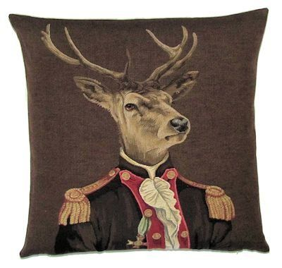 Forest Decor Deer Lover Gift Deer and Squirrel Gift Deer Pillow Cover