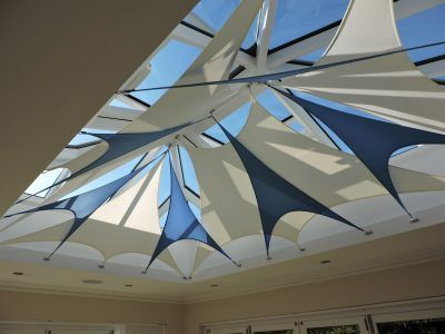 Shade Sail Blinds Meld Function And Form To Deliver An Exciting Alternative To Traditional Conservatory Blinds And Internal Sh Shade Sail Sun Sail Shade Blinds
