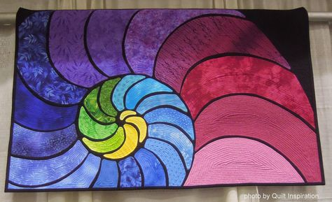 """A Slice of Pi"" by Terri Budesa (Oregon).  2014 Pacific International Quilt Festival.  Photo by Quilt Inspiration"