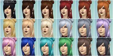 Mod The Sims Eclipse Ffxiv Eastern Buns Hair Sims 4