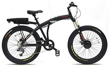 Prodeco V5 Phantom X Lite 9 Speed Folding Electric Bicycle Matte Black 26 Inch One Size Review Folding Electric Bike Electric Bike Electric Bicycle