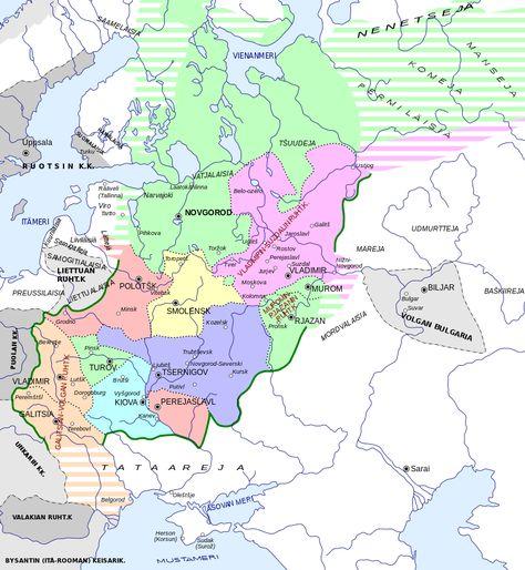 Kievan Rus In 1237 Fi Svg Kartta Vanhat Kartat
