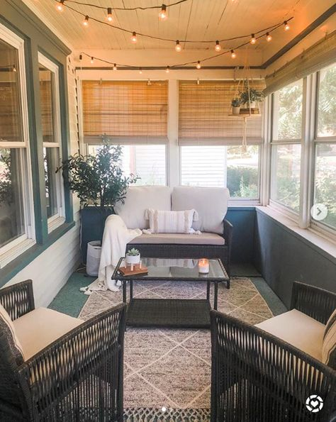 Can you even believe this is the same space? (Swipe to see where we started 😱) For 3 years I never touched this space because every time I… Welding Table, Small Sunroom, Small Enclosed Porch, Porch To Sunroom, Front Porch, Sunroom Decorating, Enclosed Porch Decorating, Screen Porch Decorating, Florida Home Decorating