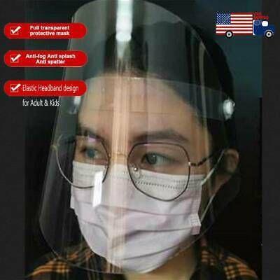 SAFETY FULL FACE SHIELD CLEAR FLIP-UP VISOR TRANSPARENT MEDICAL DENTAL MASK