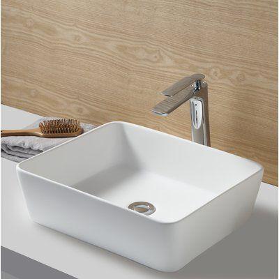 Kingston Brass Fauceture Rectangular Vessel Bathroom Sink Ceramic Bathroom Sink Ceramic Kitchen Sinks Sink