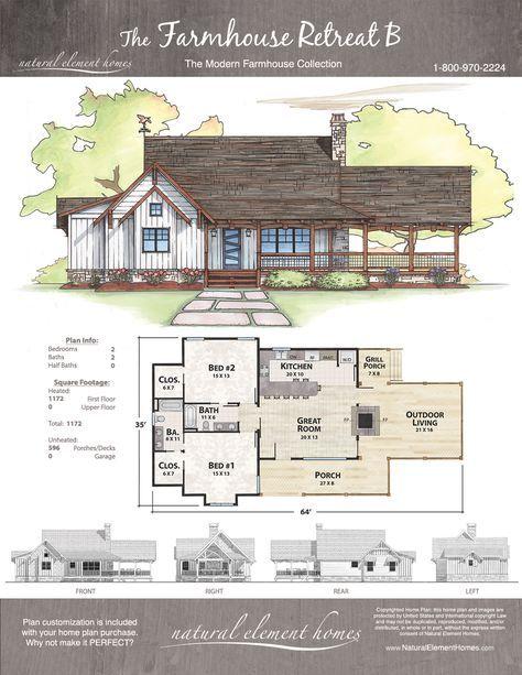 Farmhouse Retreat B Natural Element Homes Farmhouse Dream House Plans Cottage Plan House Plans