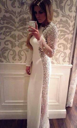 White Formal Dress From Rosies Closet | MI ESTILO, MI MODA | Pinterest |  White Formal Dresses, Formal And Designers
