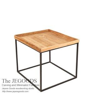 Square Tray Side Table Iron Wood Rustic Industrial Furniture Jepara Goods Woodworking Studio Indonesia Rustic Furniture Rustic Industrial Furniture Furniture