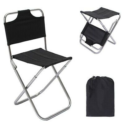 Details About Portable Folding Chair Outdoor Fishing Camping