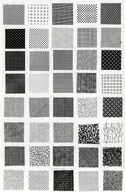 Bruno Munari, esempi di textures