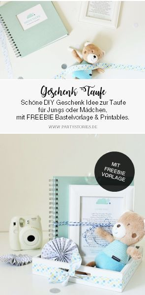 Diy Gift Idea For Baptism For Boys Girls Party Ideen Taufe