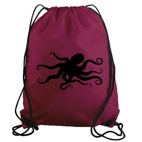 5f144e28ee63 Octopus Drawstring Gym Bag Tote | Octopus Jewelry & Fashion
