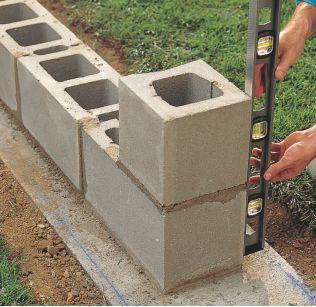How To Lay Concrete Block In 2020 Concrete Blocks Concrete Block Walls How To Lay Concrete