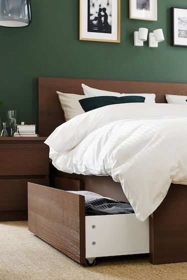 Malm Bettgestell Hoch Weiss Ikea Deutschland Malm Bett Gastezimmer Einrichten Zimmer Dekor Ideen