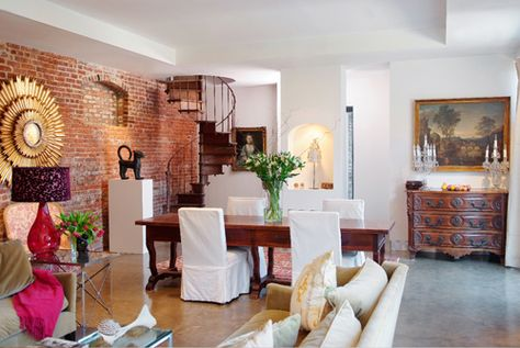 brick wall as an accent wall