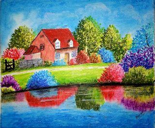 Art Artist Artistic Artists Arte Dibujo Myart Artwork Illustration Graphicdesig Colorful Landscape Paintings Drawing Scenery Easy Landscape Paintings