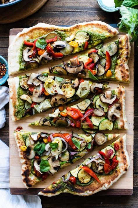 How to Make Grilled Pizza: Grilled Vegetable Pizza   Kitchen Confidante®