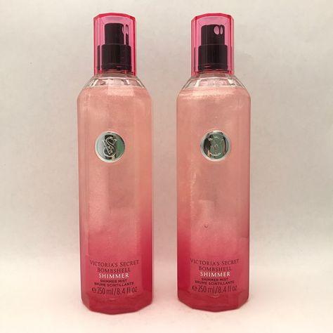 56535f0073 2 Victoria s Secret BOMBSHELL Shimmer Fragrance Mist Spray 8.4 fl.oz  Original