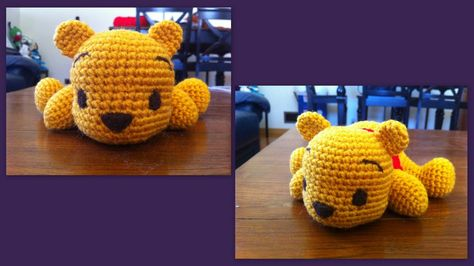 Winnie the pooh ( l'ourson) patron crochet amigurumi gratuit ( free french pattern)